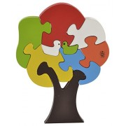 Skillofun Wooden Take Apart Puzzle Tree Bird, Multi Color