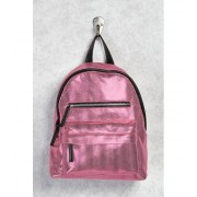 Forever21 Metallic Textured Backpack Pinkblack