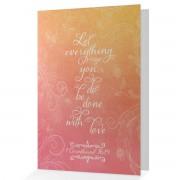 With Love... - 1 Corinthians 16:14 - (JW Wedding Congratulations Card)