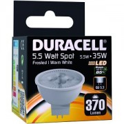 Duracell LED GU 5.3 5.5W Frosted Spotlight Bulb (DRLEDS15)