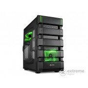 "Carcasă PC Sharkoon BD28 ""Bulldozer"" mATX, interior verde-negru"
