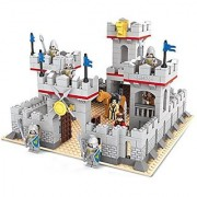 Ausini Knights Castle Fortress Heavy Guarded Palace Bricks 686pc Educational Blocks Set Compatible to Lego Parts - Great