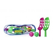 Scoop Ball Game By YoYa Toys Scoop Toss Set | Scoop Ball Toy For Kids & Adults | Jai Alai Thrower With 2 Balls | PVC Carry Bag | Toss & Catch Outdoor Game Set | Refund Guaranty