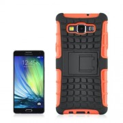Angibabe 2 in 1 Tire Texture Protective Case with Holder For Samsung Galaxy A5(Orange)