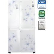 LG 687 L GC-B247SCUV Side In Side SidsE Side Refrigerator - DAFODILL WHITE