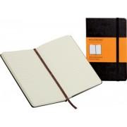 Carnet ligné Moleskine 9 x 14 cm Souple, ligné 70 g/m² 192 Pages Papier Noir