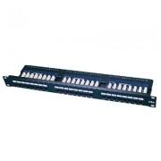 Accesoriu pentru rack: LanKATT Patch Panel cat5e UTP 24 x RJ45 – 1U cu suport de cabluri