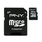 Memoria Flash PNY, 16GB microSDHC Clase 4, con Adaptador