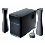 "BOXE 2.1 EDIFIER, RMS: 34W (9Wx2 + 16W), black, telecomanda pe fir, iesire casti ""M3200"" , BOXM3200RED (include timbru verde 1 leu)"