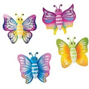 Includes 6 Butterfly Wall Walkers.-3 1 4 x 4 1 2 inches each.-Stick to a window and these butterflies will glide and sl