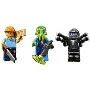 Carpenter Space Alien Trooper Space Galaxy Warrior: Lego Collectible Minifigures Series 13 Custom Bundle 71008