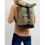 Nicce London Rolltop Backpack In Khaki - Stone