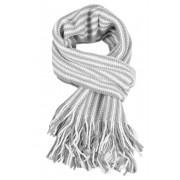 Stripes pánská zimní šála světle šedá