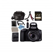 Canon PowerShot SX60 HS Digital Camera 9543B001 + NB-10L Lithium Ion Battery + External Rapid Charger + Sony 128GB SDXC Card + Mini HDMI Cable + Small Case + Memory Card Wallet Bundle