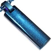 Medalion albastru inox B881