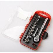 Комплект 23 части ръчни инструменти - отверки, накрайници за глух ключ VPP