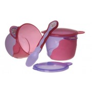 Vital Baby 49008 Baby's First Snack Bowl with Baby's First Spoon Pink / Purple