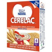 Nestl CERELAC Infant Cereal Stage-1 (6 Months-24 Months) Wheat Apple 300g