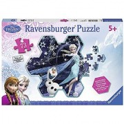 Ravensburger Disney Frozen Elsas Snowflake Shaped Puzzle with Glitter (73-Piece)