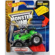 Hot Wheels Monster Jam 1:64 Scale - Grave Digger with Stunt Ramp #05 by Hot Wheels