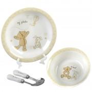 Button Corner Ceramic Dinner Set