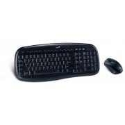 Kit Tastatura&Mouse Wireless Genius KB-8000X Black