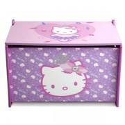 Ladita din lemn pentru depozitare jucarii Hello Kitty