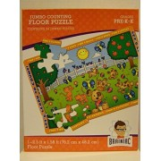 Jumbo Counting Floor Puzzle Lets Learn To Count! Puppies, Kittens, Blue Birds, Butterflies...Makes Learning Fun! 24 Pieces (2.5 Feet By 1.58 Ft) Sugggested Grades Pre K K By Brainiac