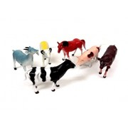 Animal World Toy Farm Animals Figures, Large Size 6 piece Assorted Styles, Sheep, Horse, Goat, Cow, Buffalo and...