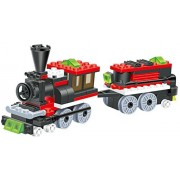 Mini Train - 120 pcs building blocks steam 2 windows cabin engine locomotive railway train set comes with load wagon bogie a great full fun gift - a must for all 6 children in Lego compatible parts