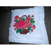 Vintage Romanian traditional pillow case, hand embroidered pillow from Oltenia
