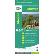 Fietskaart - Wandelkaart 25 Top75 Morvan | IGN