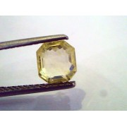 2.23 Ct Unheated Untreated Emerald Cut Natural Ceylon Yellow Sapphire