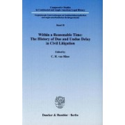 Within a Reasonable Time: The History of Due and Undue Delay in Civil Litigation by C. H. Van Rhee