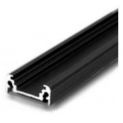 Hliníková lišta Classic Čierna pre LED pásik s krytom Biela číra