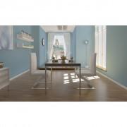 vidaXL Sada 2 bílých jídelních židlí v cikcak tvaru