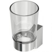 Pahar din sticla cu suport Ideal Standard gama Connect