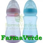 Biberon BPA gat larg 250 ml RO145 Primii Pasi