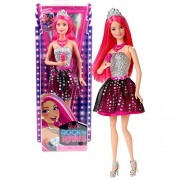 Mattel Year 2014 Barbie Rock N Royals Series 12 Inch Doll Set Lead Singer Princess Courtney (Ckb66) With Microphone, Necklace And Tiara