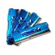 Mémoire LONG DIMM DDR3 G.Skill DIMM 16 GB DDR3-1866 Quad-Kit F3-14900CL8Q-16GBZM, série RipjawsZ 16 GB CL8 09/09/24 4 barettes