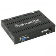 Външна видеокарта Matrox D2G-A2A-IF за едновременна работа на 2 монитора с VGA вход