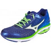 Mizuno Wave Rider 19 Running Shoes Men twilight blue/white/green gecko 48,5 Neutral Laufschuhe