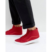 Vans Sk8-Hi Canvas Trainers In Red VA38GEMX2 - Red (Sizes: UK 7.5, UK 7, UK 8.5, UK 4, UK 9)