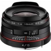 Obiectiv Foto Pentax-Ricoh 15mm f4 DA ED HD AL Limited Black
