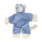 WALLY BEAR (5in) 12.5cm (Blue) with CRINKLE PAPER