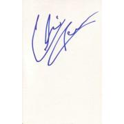 Chris Owen Autographed Index Card
