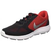 Nike Revolution 3, Zapatillas para Hombre, Rojo / Blanco / Negro (Unvrsty Rd / Mtllc Slvr-Blk-Whit)