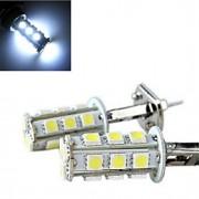 4W H1 Luz de Decoração 13 SMD 5050 150-200 lm Branco Frio Decorativa DC 12 V 2 pçs