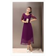 Party Wear Faux Georgette Purple Kurti - 102013