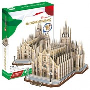 3D Puzzle La catedral de Milán Italia Milan Cathedral Italy Duomo di Milano Cubic Fun
